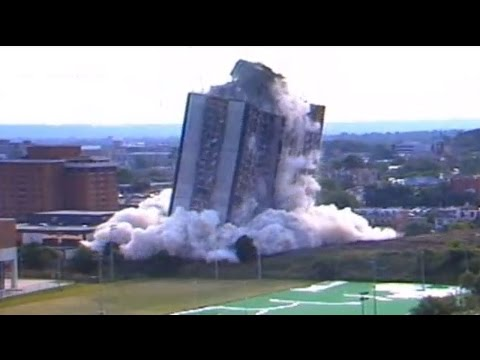 Sander Hall implosion: When the walls of  27-story University of Cincinnati dormitory came tumblin'