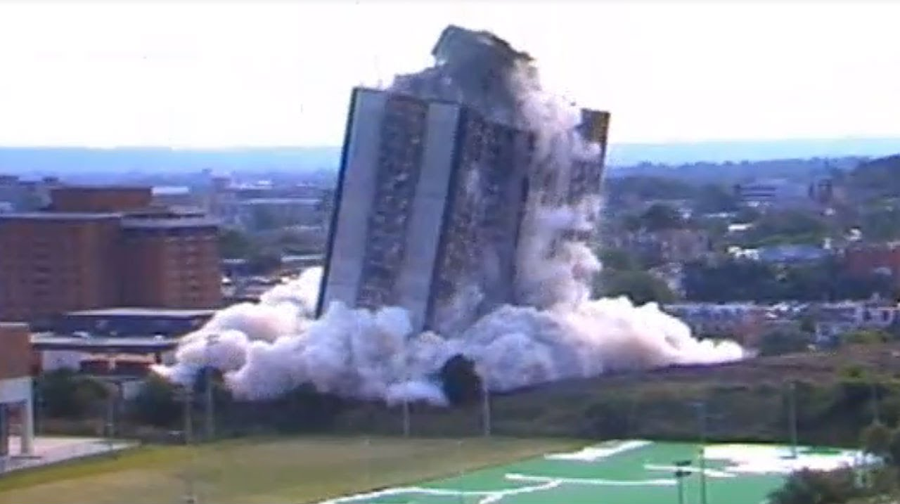 Sander Hall Implosion When The Walls Of 27 Story