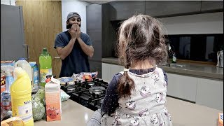 CUTEST DADDY DAUGHTER CONVO & ALDI FOOD HAUL!