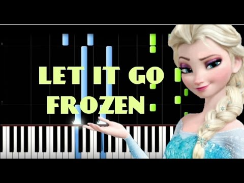 how to play piano let it go frozen easy