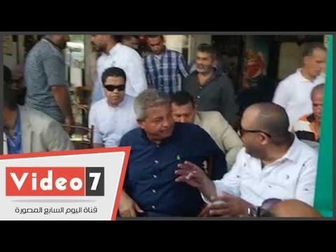 اليوم السابع : بالفيديو.. وزير الرياضة يلبى دعوة أهالى الجمالية بالجلوس على قهوة بلدى