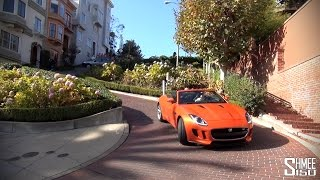F-Type in San Francisco - Lombard St, Golden Gate Bridge, Sonoma Valley