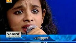 """Poornasree: """"Swapnam thyajichaal..."""" performs in Amrita tv"""