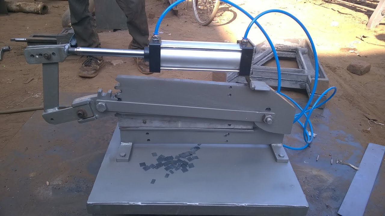 Pneumatic Sheet Metal Cutting Machine Mechanical Project