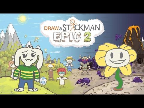 Guide AZ - Draw a Stickman Epic 2 Gameplay - Undertale Asriel vs Flowey - Asriel Amazing Adventure