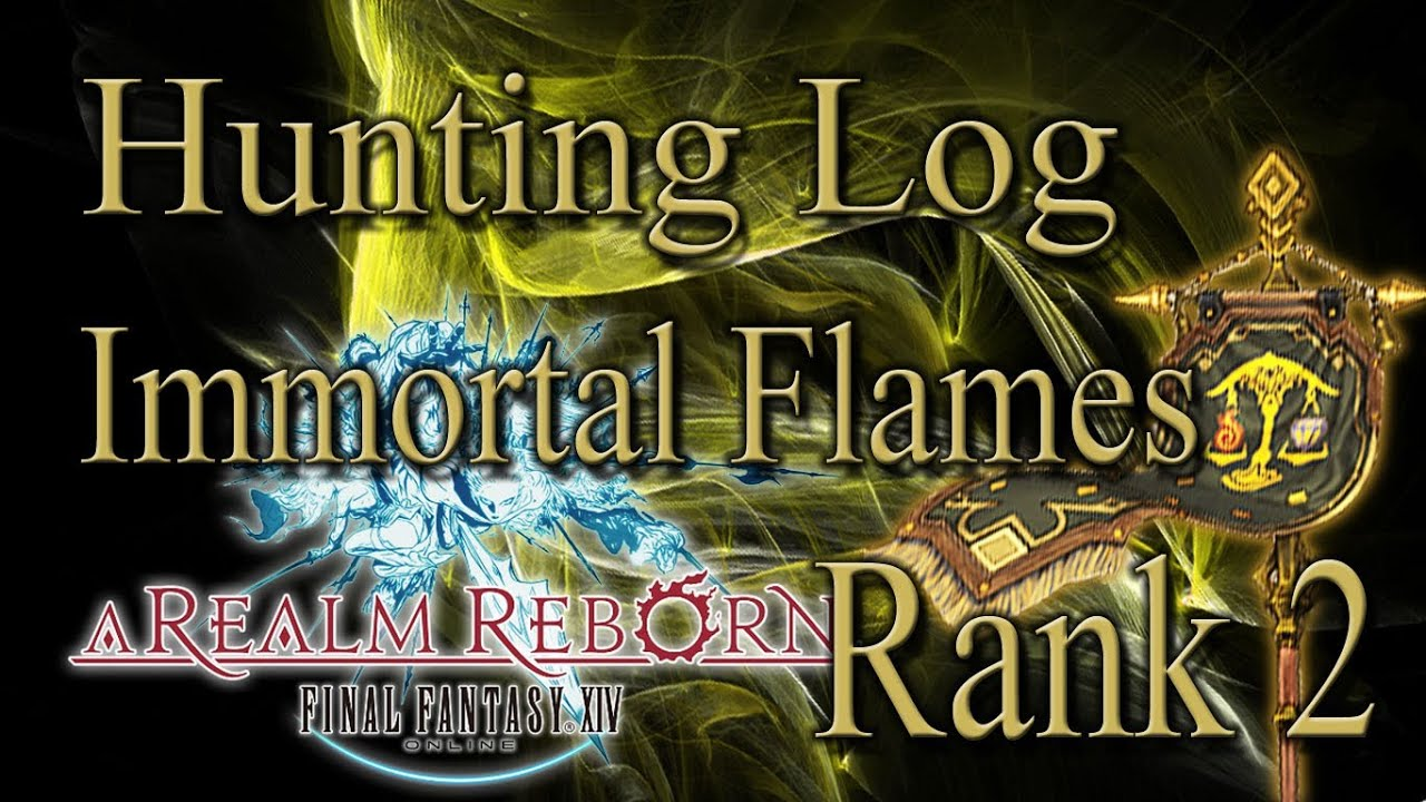how to get hunting log ffxiv