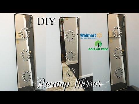 DIY DOLLAR TREE & WALMART REVAMP LONG MIRROR DECOR | DOLLAR TREE DIY MIRROR WALL ART | PETALISBLESS