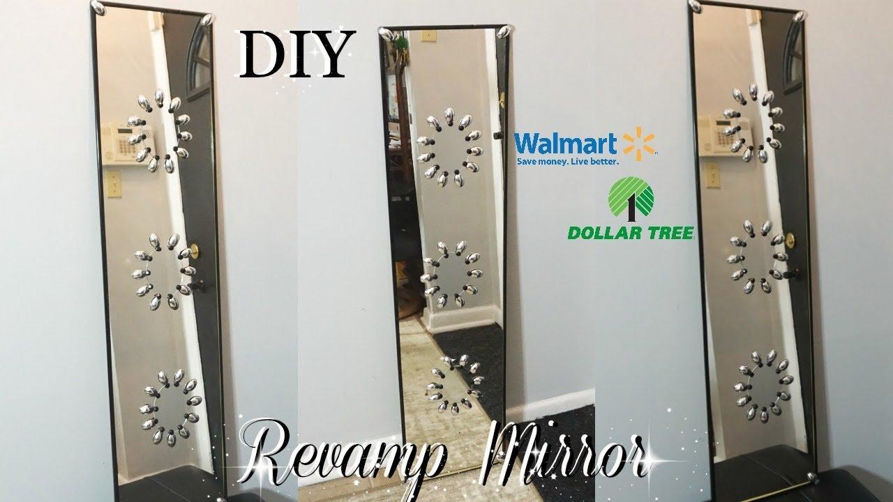 Diy Dollar Tree Revamp Long Mirror Decor Wall Art Petalisbless