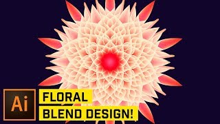 Blended Floral Effects in Adobe Illustrator CC