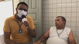 Rafael Santos entrevistou o 1° idoso do SAME que recebeu a vacina do COVID-19