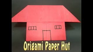 Make your own dream paper hut!!! How to make origami paper house easily for kids