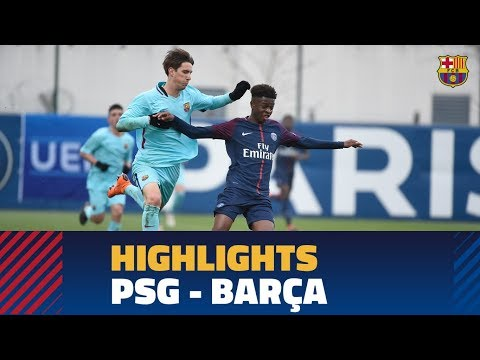 Highlights Psg Fc Barcelona 0 1 Uefa Youth League Round