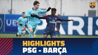 Baixar [HIGHLIGHTS] PSG - FC Barcelona (0-1) UEFA Youth League Round of 16