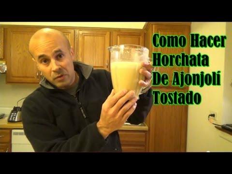 Horchata De Ajonjolí Tostado - Leche De Sésamo Tostado - Benne