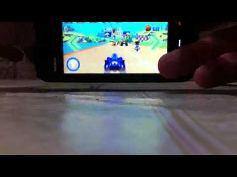 Sonic All Stars Race playing on Nokia 5800 XpressMusic [With Download s60v5]