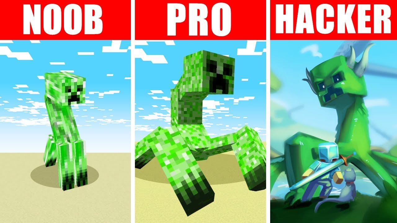 Minecraft NOOB vs. PRO vs. HACKER : MUTANT CREEPER SURVIVAL CHALLENGE in Minecraft!