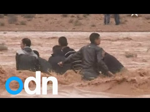 Morocco floods: 17 dead and dozens missing after heavy rain destroys houses, cars and roads