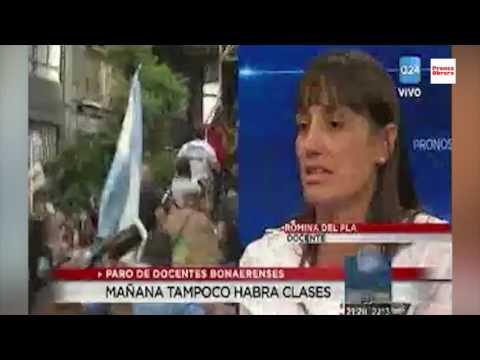 """""""El paro nacional tiene que ser ahora"""" // Romina del Pla en A24"""