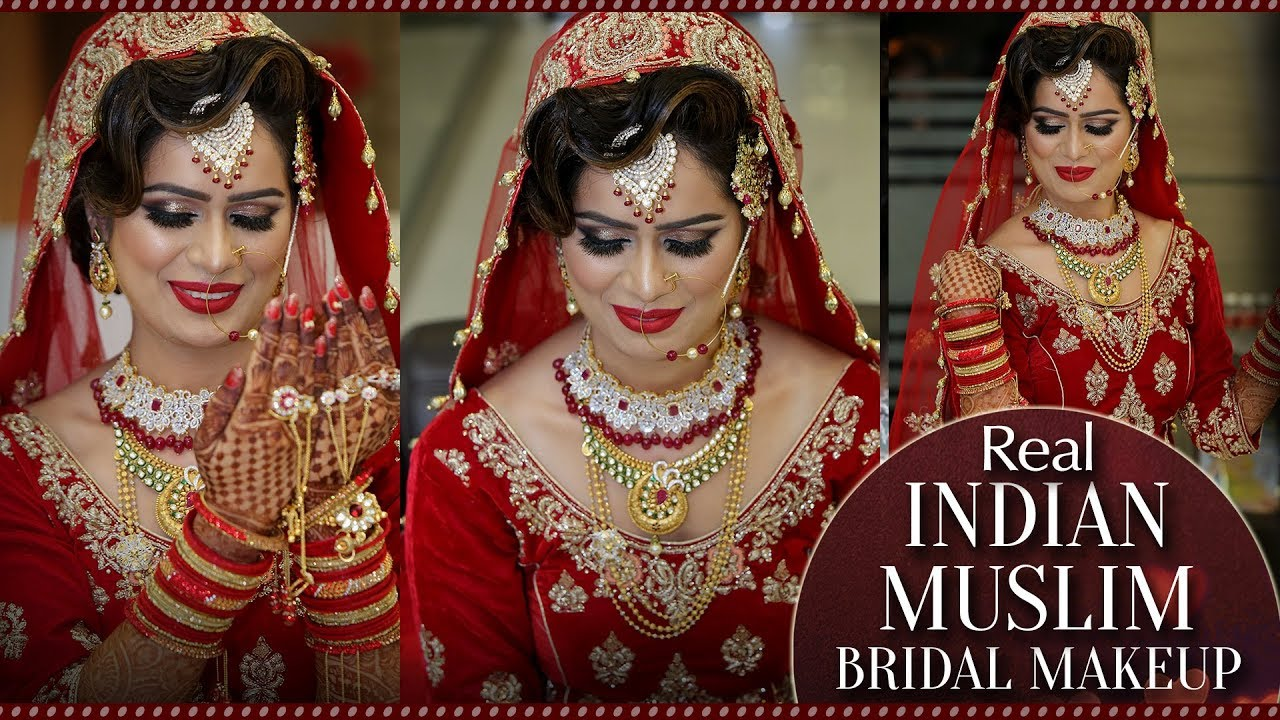 muslim bridal best makeup video | step by step makeup tutorial for muslim bride | krushhh by konica