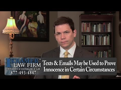 Texts and Emails May Affect Your Legal Case -- FL Divorce & Family Law Attorney Steve Kramer