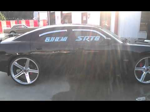 Dodge Challenger 24 Inch Rims >> Fre$h Outt 26 inch IROCS on $RT 8 CHARGER - YouTube