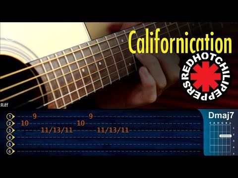 Californication Solo Rhcp Acustico Guitarra Cover Tutorial Youtube