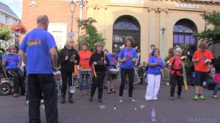 Samba street drumming - full 15 minute HQ video & sound recording