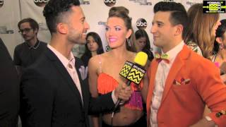 Dancing With The Stars - Amy Purdy & Mark Ballas AfterBuzz TV Interview April 7th 2014