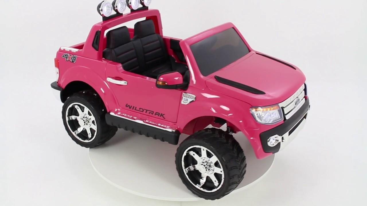 ford ranger kinder elektroauto rosa youtube. Black Bedroom Furniture Sets. Home Design Ideas