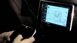 BMW 7 series (F01/02) + BGT-MNS42 - Управление задним монитором с помощью bluetooth тачпада