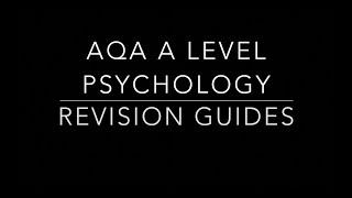 Which is the best revision guide? (AQA A Level Psychology)