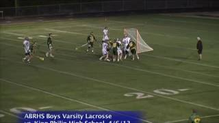 Acton Boxborough Varsity Boys Lacrosse vs King Phillip 4/6/13