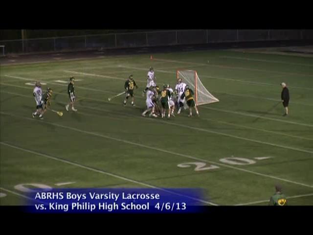 Acton Boxborough Varsity Boys Lacrosse vs King Phillip 4/6/13