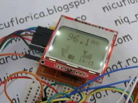 TEA5767 FM radio with digital volume and Nokia 5110 display