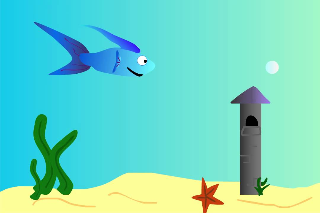 fish swimming in clip art animations n - 1080×720