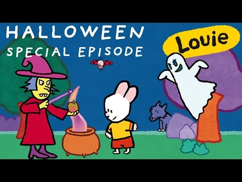 Halloween - Louie : special Halloween compilation | Learn to draw, cartoon for children