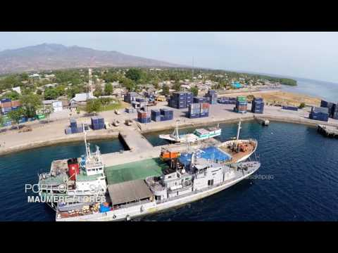 Port Of L. Say Maumere | From Above (Drone)