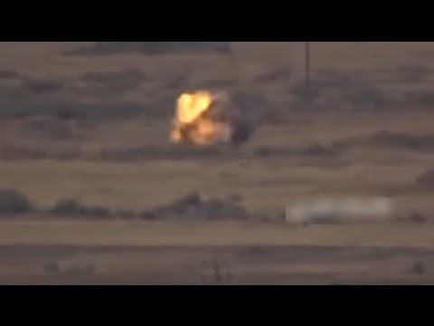 A direct hit by Saudi M2 Bradley from Houthis ATGM in Jizan Province, Saudi Arabia