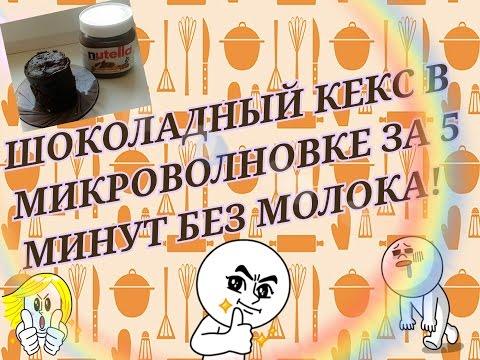 Шоколадный кекс микроволновке