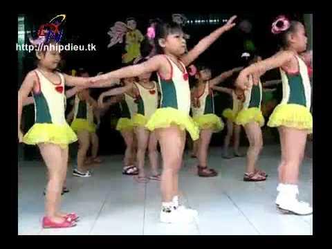 Http://nhipdieu.tk - bieu diễn aerobic mẫu giáo mầm non - con gà