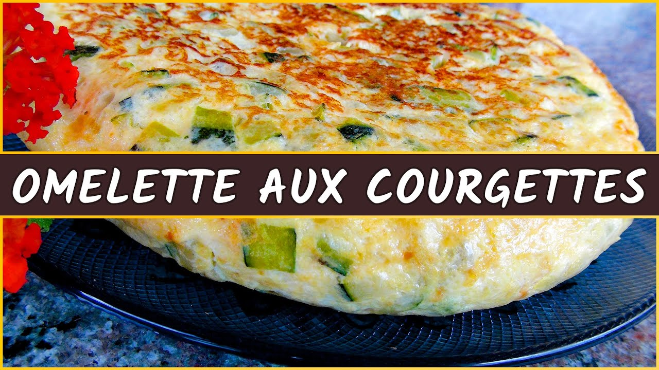 recette de l omelette aux courgettes youtube. Black Bedroom Furniture Sets. Home Design Ideas