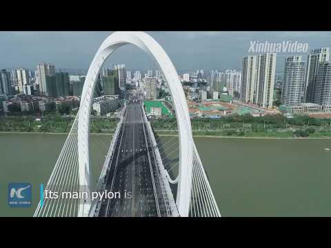 New cable-stayed bridge opens to traffic in Guangxi, China