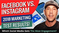 Facebook vs. Instagram 2018 Marketing Test Results! Which Social Media Gets The Most Engagement?