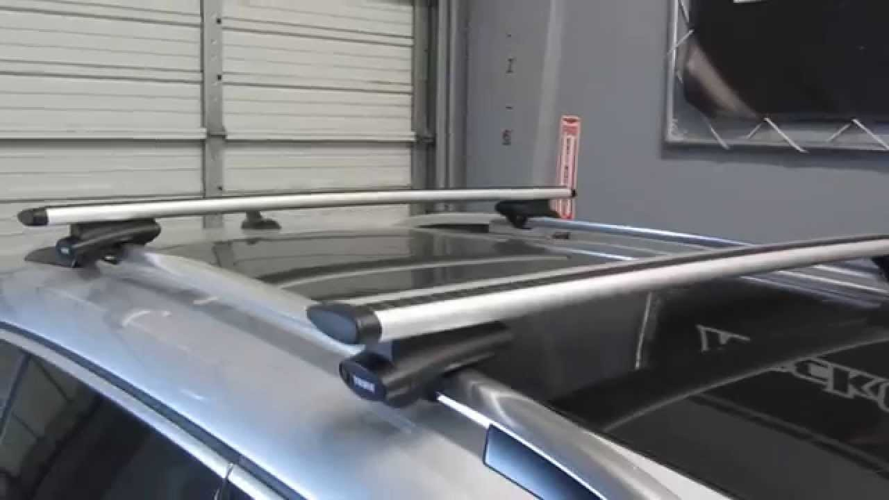 2012 volkswagen tiguan with thule 450r crossroad aeroblade roof rack by rack outfitters
