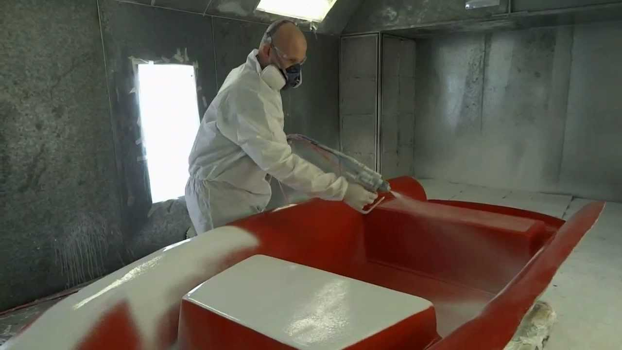 Gel Coat Spray Booth Aquascan Yacht Tenders YouTube