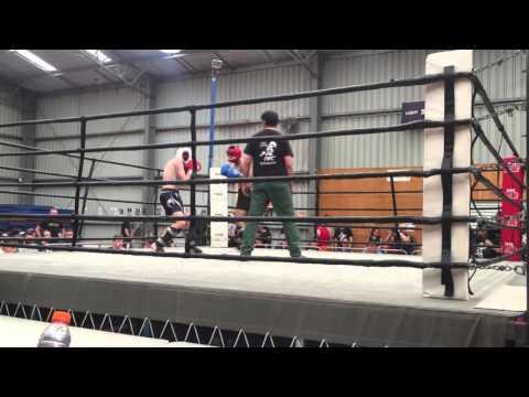 Alex first kickboxing fight.