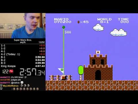(4:57.260) Super Mario Bros. any% speedrun *World Record*