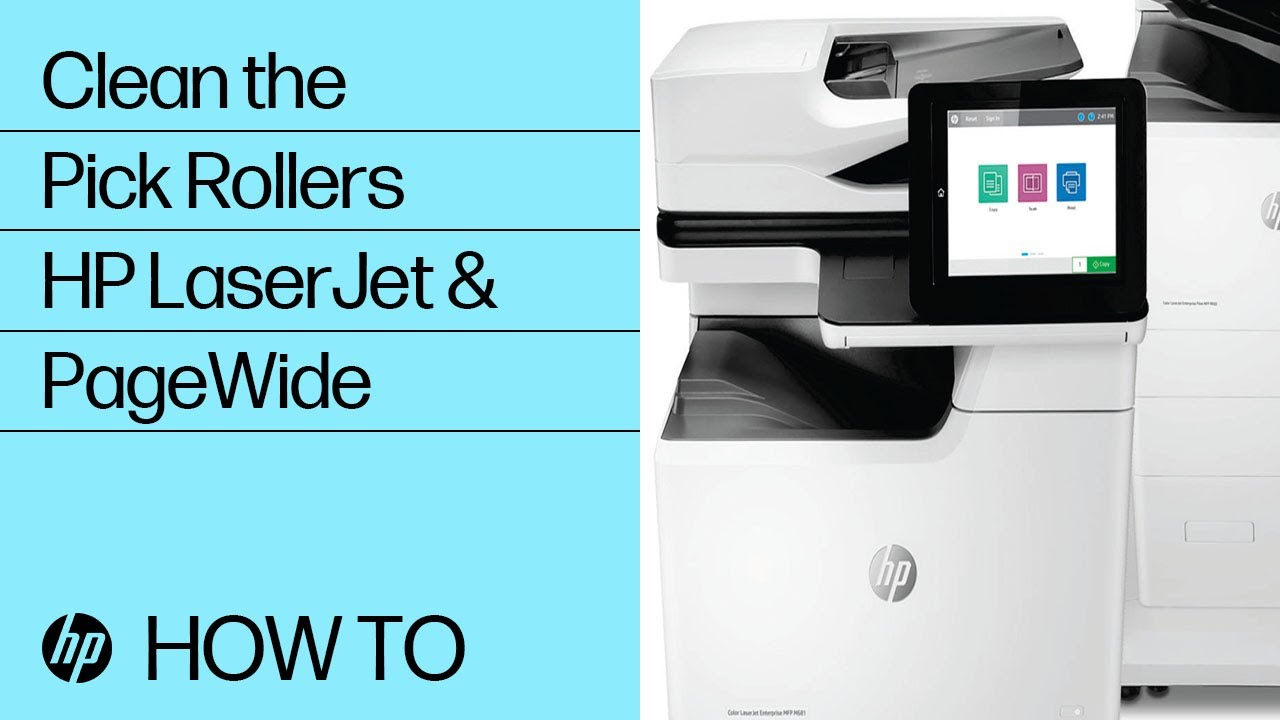 Clean The Pick Rollers Hp Laserjet And Pagewide Printers Hp Youtube