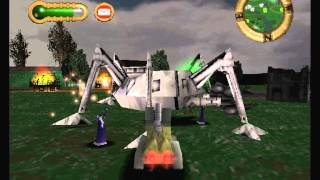 Jeff Wayne's The War of the Worlds PSone game - level 9 (York's evacuation)