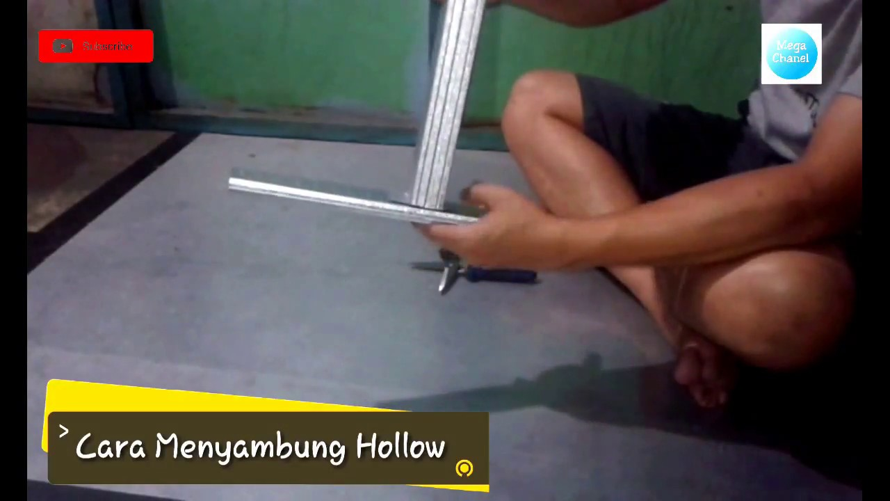 menyambung hollow baja ringan cara plafon youtube